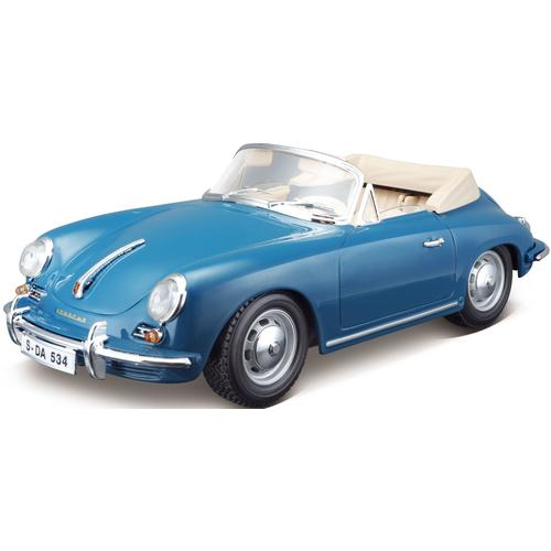 Bburago Sammlerauto Porsche 356B Cabrio (1961), 1:18 blau Kinder Modellautos Modellfahrzeuge Autos, Eisenbahn Modellbau
