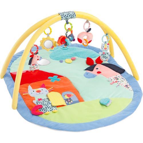 Fehn Baby Gym COLOR Friends 3-D-Activity-Decke bunt Kinder Activity Center Trapeze Kleinkind