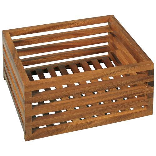 Möve Aufbewahrungsbox ACACIA, Gitterbox aus Akazienholz braun Kleideraufbewahrung Aufbewahrung Ordnung Wohnaccessoires