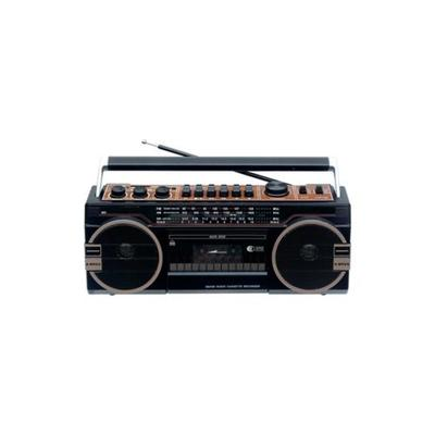 Supersonic Black 3 Band Radio with Bluetooth and Cassette Recorder