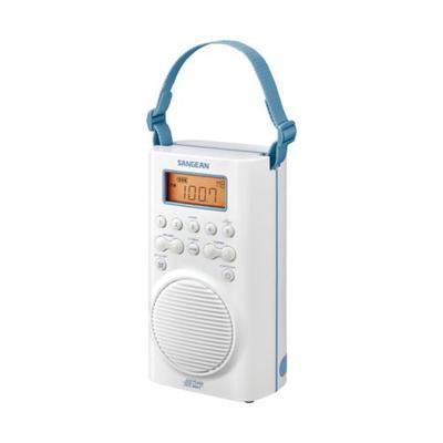 Sangean White AM/FM/Weather Alert Waterproof Shower Radio