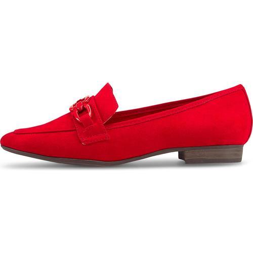 MARCO TOZZI, Slipper in rot, Slipper für Damen Gr. 42