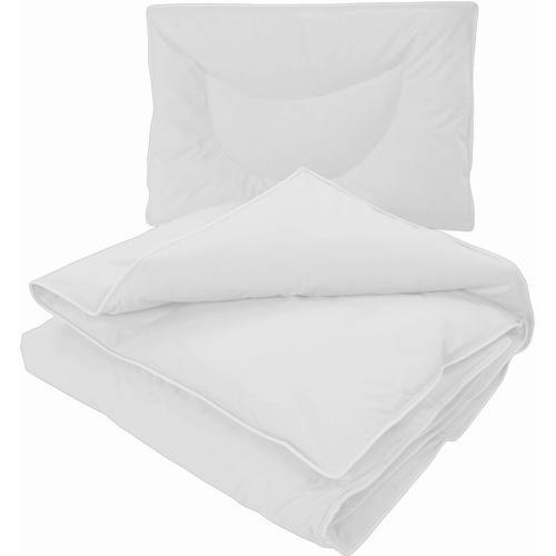 Kinder Bettdecken Set Junior Comfort - Daunendecke 100x135 + Kopfkissen 40x60:Weiß