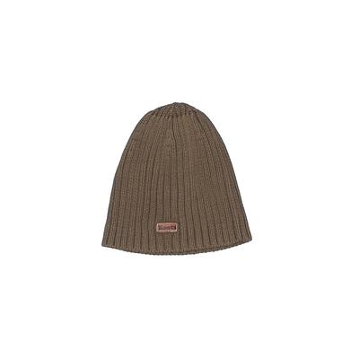 Roots Beanie Hat: Brown Solid Ac...