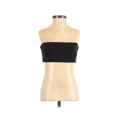 Beyond Yoga Sports Bra: Black Solid Activewear - Size X-Small