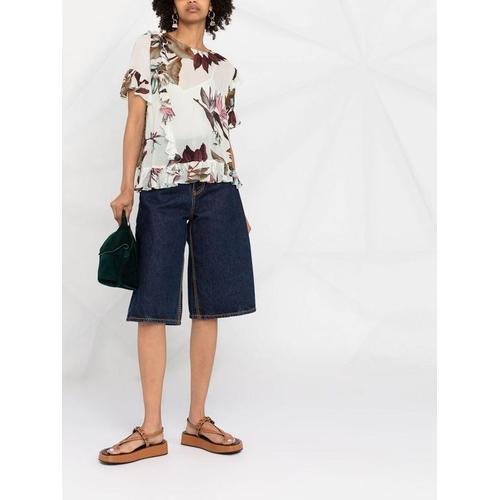 Pinko Bluse mit Blumen-Print