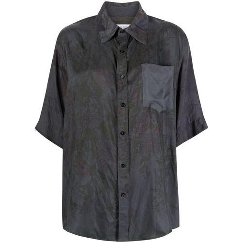 MARINE SERRE Hemd aus Seide