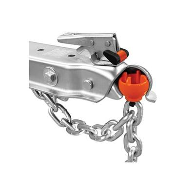 Rightline Gear Silver Anti-Theft Trailer Coupler Ball and Lock