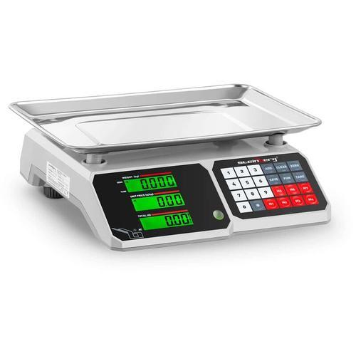 Kontrollwaage LCD Profi Ladenwaage Preiswaage 30Kg 1G Marktwaage Tischwaage