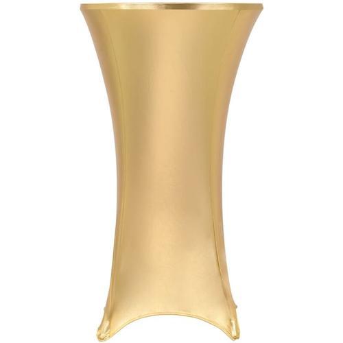 2 Stück Stretch-Tischdecken Golden 70 cm - Youthup