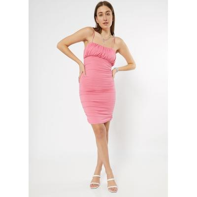 Rue21 Womens Pink Ruched Bodycon Dress - Size M