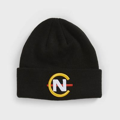 Nautica Men's Competition Ribbed-Knit Logo Beanie True Black, OS