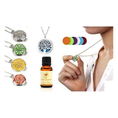 Aroma-Diffusor-Halskette: Halskette/ Sonne