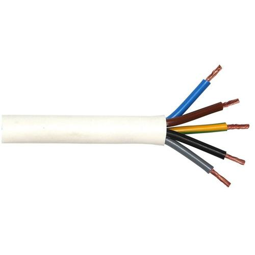 Herdanschlusskabel H05VV-F 5 x 2,5 - 3 Meter, weiß
