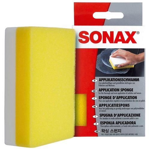 Sonax Schwamm Applikations-Schwamm, (1 St.), zum Auftragen und Verarbeiten von Polituren, Wachsen, Kunststoffpflegemitteln gelb Autopflege Autozubehör Reifen