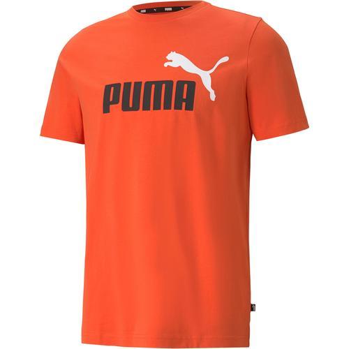 PUMA Essential T-Shirt Herren in tigerlily, Größe L