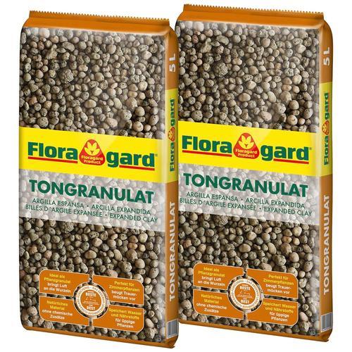 Floragard Tongranulat, 2x5 Liter braun Zubehör Pflanzen Garten Balkon Tongranulat