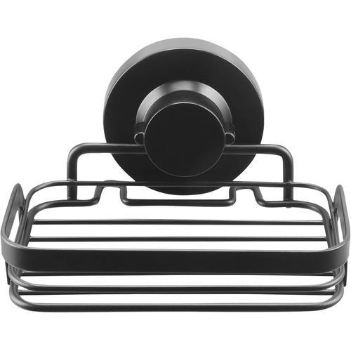 CORNAT Seifenhalter, 3 verschiedene Befestigungsoptionen schwarz Cornat Seifenhalter