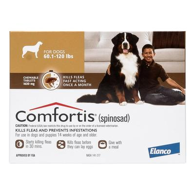 Comfortis Brown For Dogs 60 - 120 lbs 6 Doses
