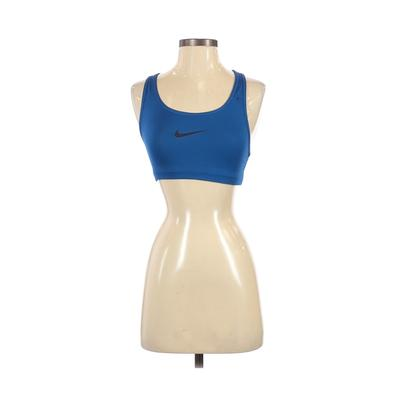 Nike Sports Bra: Blue Solid Activewear - Size X-Small