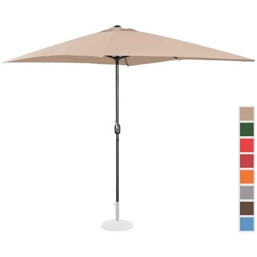 Sonnenschirm groß Gartenschirm (rechteckig, 200 x 300 cm, creme) - Uniprodo