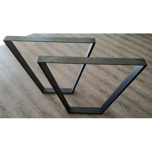 Trapez Tischgestell aus Industriestahl