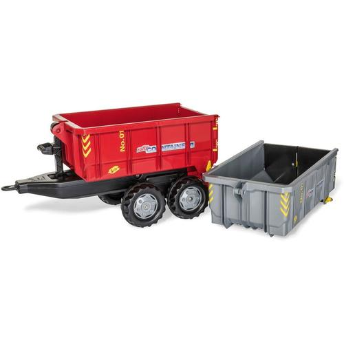Container Anhänger Set 2 Absetzmulden, Kippfunktion, Farbe grau/rot - Rolly Toys