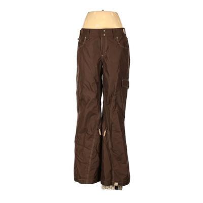 Roxy Snow Pants - High Rise: Brown Activewear - Size Medium