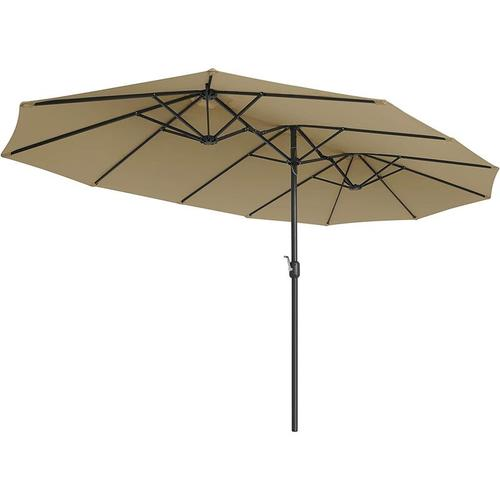 Songmics - Doppelsonnenschirm 460 x 270 cm, extra großer Sonnenschirm, Gartenschirm, UV-Schutz bis