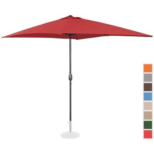 Sonnenschirm groß Gartenschirm (rechteckig, 200 x 300 cm, bordeaux) - Uniprodo