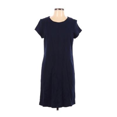 Saks Fifth Avenue Casual Dress - Shift: Blue Solid Dresses - Used - Size Large