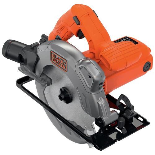 Black + Decker Handkreissäge CS1250L, 1250 W, Sägeblatt mit Parallelanschlag orange Sägen Werkzeug Maschinen