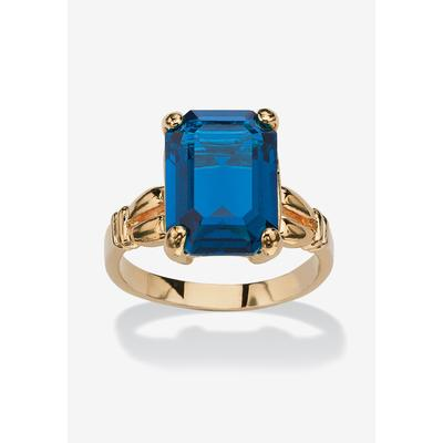 Plus Size Women's Yellow Gold Plated Simulated Birthstone Ring by PalmBeach Jewelry in September (Size 7)