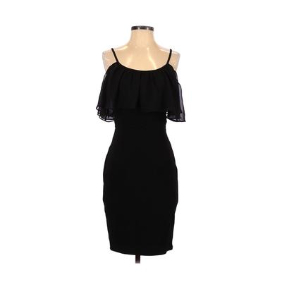 As U Wish Casual Dress - Party: Black Solid Dresses - Used - Size Small