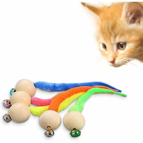LITZEE Interaktives Fischen Katzenspielzeug, Katzenspielzeug, Wurmsimulationsspielzeug mit