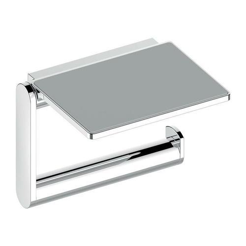Toilettenpapierhalter Toilettenpapierhalter PLAN offene Form, mit Ablage verchromt - Keuco