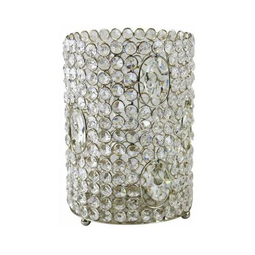 Pflanzen Kölle - Windlicht, Glas, Kristalle, Höhe 25 cm, Ø 16,5 cm