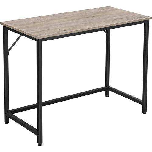VASAGLE Schreibtisch, Computertisch, schmaler Bürotisch, 100 x 50 x 75 cm, Arbeitszimmer,