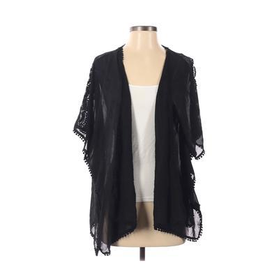 Haute Monde Kimono: Black Solid ...