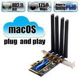 Carte réseau wi-fi PCIe 802.11ac...
