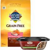 Nature's Recipe Grain-Free Salmon, Sweet Potato & Pumpkin Recipe Dry Food + True Acre Foods Hearty Stews, Lamb & Vegetable Recipe, Wet Dog Food