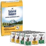 Natural Balance L.I.D. Limited Ingredient Diets Grain-Free Duck & Potato Formula Dry Food + American Journey Limited Ingredient Poultry Grain-Free Canned Dog Food