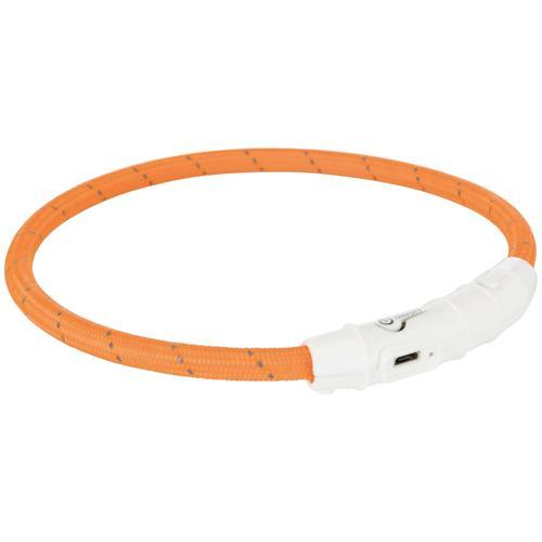 TRIXIE Hunde-Halsband USB Flash, Kunststoff-Nylon, in versch. Größen orange Hundehalsbänder Hund Tierbedarf