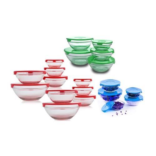 Runde Glasschüssel-Sets: 10