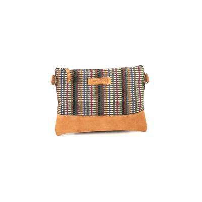 Assorted Brands - Assorted Brands Crossbody Bag: Tan Color Block Bags