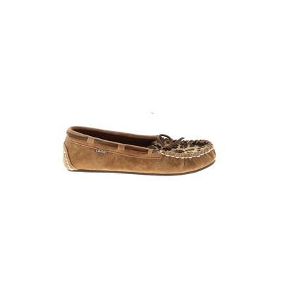 Lamo Footwear - Lamo Footwear Flats: Tan Solid Shoes - Size 7