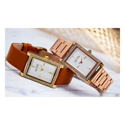 Sophie&Freda Armbanduhr mit Swarovski®-Kristallen: Gold