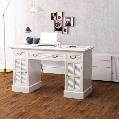 YOUTHUP Schreibtisch Sekretär Weiß 140 x 48 x 80 cm