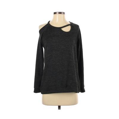 Jolie Sweatshirt: Gray Solid Clothing - Size Small