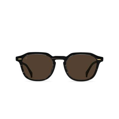 Raen Clyve Licorice / Vibrant Brown Polarized Sunglasses